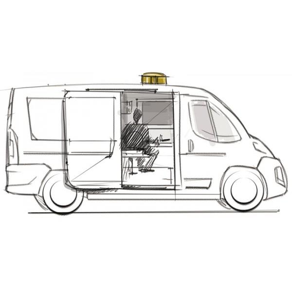 Sous-marin, aménagement de véhicules de surveillance discret
