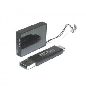 Edic-mini Tiny 16+ S78 - Enregistreur vocal unique avec 2 piles solaires.