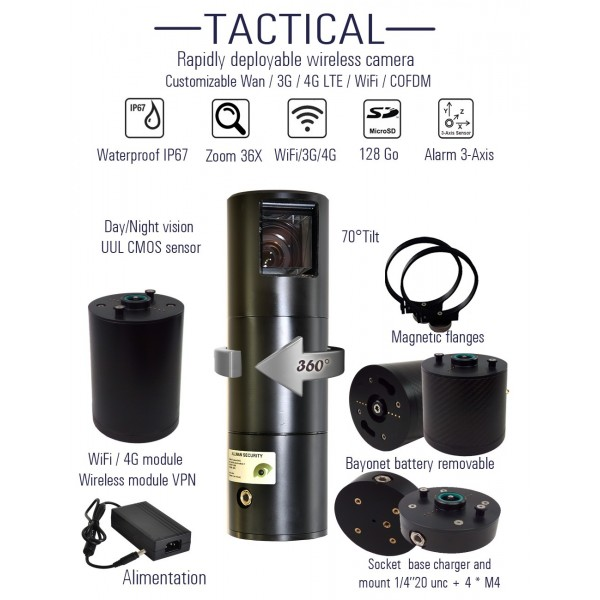 Camera PTZ - Observer Tactical video surveillance 4G