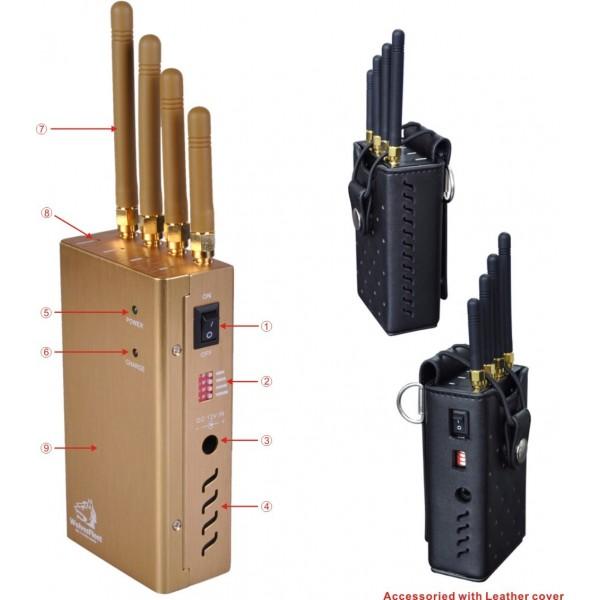 TG-120D-PRO Brouilleur GPS de téléphone portable