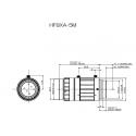 "Objectif fujinon 4D"" HF8XA-5M Haute Résolution 2/3 ""8mm F1.6"