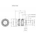 "HF6XA-5M Fujinon Objectif 4D Haute Résolution 2/3 ""6mm F1.9"