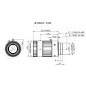 """HF3520-12M Objectif """"4D Haute Résolution Objectif 2/3 """"35mm F2.0"""
