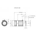 "HF50XA-5M Fujinon Objectif 4D"" Haute Résolution 2/3 ""50mm F2.4"