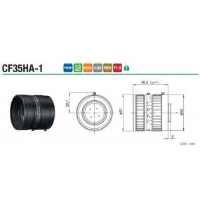 """Objectif de caméra zoom / haute résolution / caméra CCD / vision industrielle CF35HA-1 1 """"35 mm F1.4 fUJINON"""