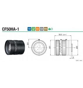 """CF50HA-11"""" 50mm F1.8 Objectif de caméra zoom / haute résolution / caméra CCD / vision industrielle"""
