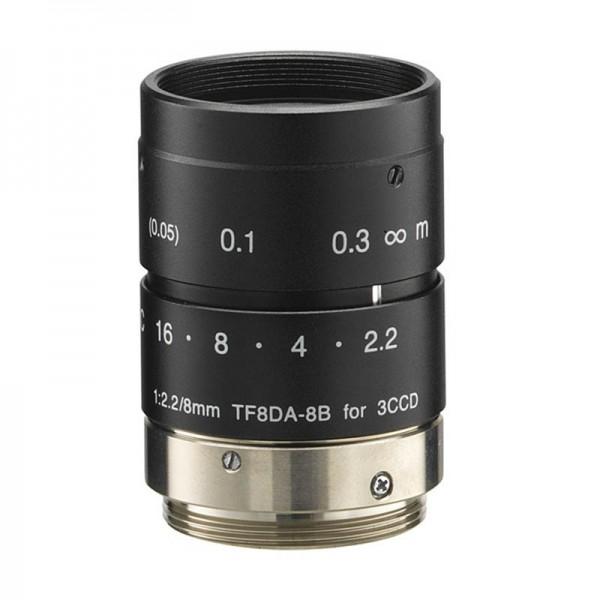 """Objectif 4D TF8DA-8B 1/3 """"8mm F2.2 pour caméras 3CCD Type Industrielle"""