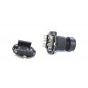 odule de caméra USB HBVCAM, objectif rond 5MP à connexion fixe 5PIN USB2.0 avec protocole UVC