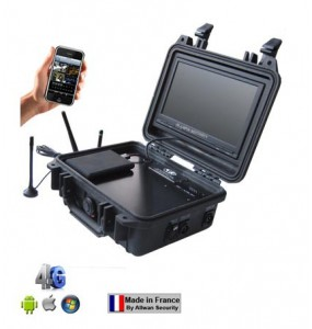 Valise tactique de surveillance 4GMVRTC300 1 voie 4G WiFi Allwan