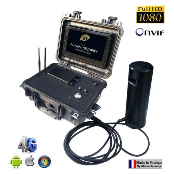 Valise tactique de surveillance 1080-4HDNVR IP 4G WiFi Allwan