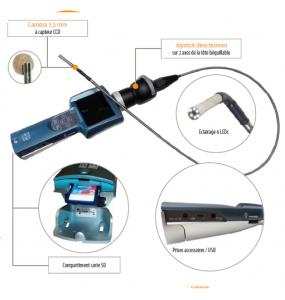 Caméra Endoscopique flexible micro inspection ENDOSCAM