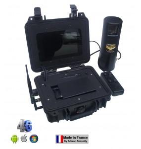 VH100496 Valise de surveillance vidéo tactique 4 voies 4G WiFi HD960H