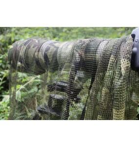 Filet imprimé de camouflage pour mission discrète en nature