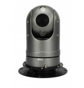PTZ Powered Dome IP Camera 360 ° Rotation Night Vision with Magnetic Mount