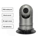 Dôme motorisée PTZ Rotation 360° Vision Nocturne IR avec Support Magnétique pour véhicule de service