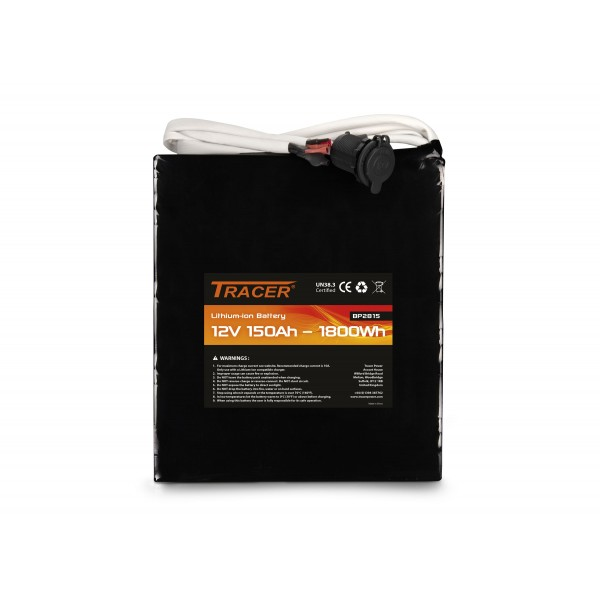 Tracer 12V 150AH- Longer lasting battery pack, faster charging time