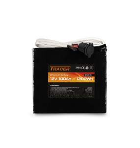 Tracer 12V 100Ah Lithium battery module with output wires - Portable and light power supply