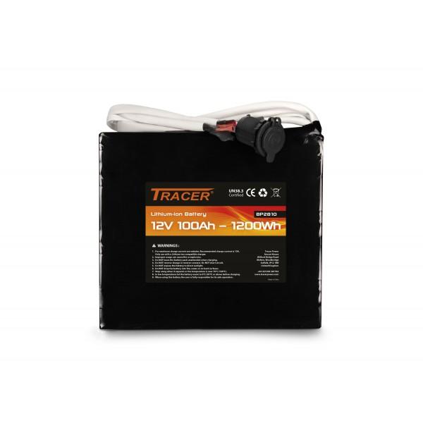 Tracer 12V 100Ah Module de batterie au Lithium avec fils de sortie - Alimentation portable et légère
