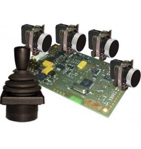 pupitre joystick de controle camera motorisées dome ptz integrable chassis panneau commandes