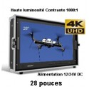 BM280-4K 1080P HDMI 4K Moniteur haute luminosite 1000:1 Ultra HD resolution large view carry on switcase