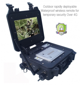 Outdoor rapidly deployable Waterproof wireless remote for temporary security Over 4G