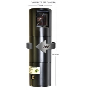 HERMES 23X Rugged PTZ cylinder camera for tactical applications