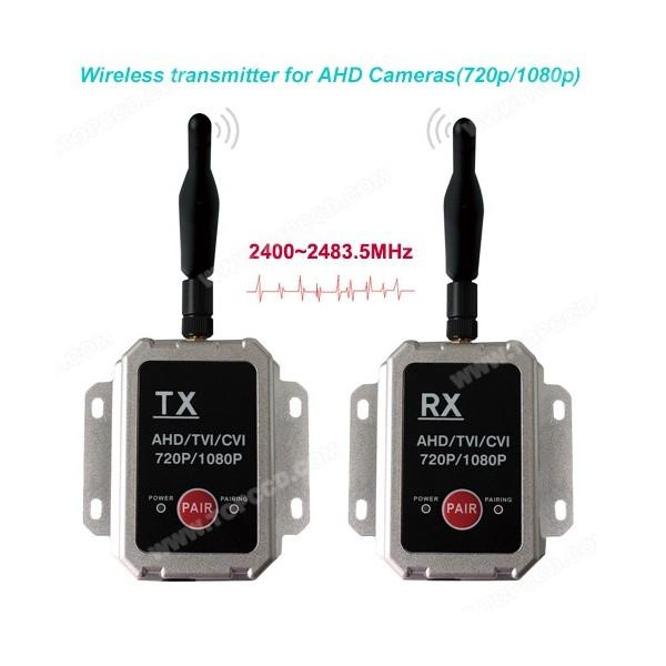 Émetteur et récepteur audio vidéo sans fil pour caméras AHD - TOP-WAHD500KIT