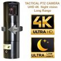 Camera tactique PTZ tactique 8K UHD Ultra Low light Night vision extérieur étanche