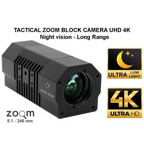 Zoom bullet camera 30X Ultra Low Light Night vision Ultra HD 4K Day Night miliary MIL-810F & Law enforcement applications, heavy