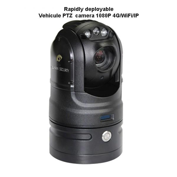 Camera tactique PTZ embarquée autonome 4G WiFI autonome 8 batterie heures