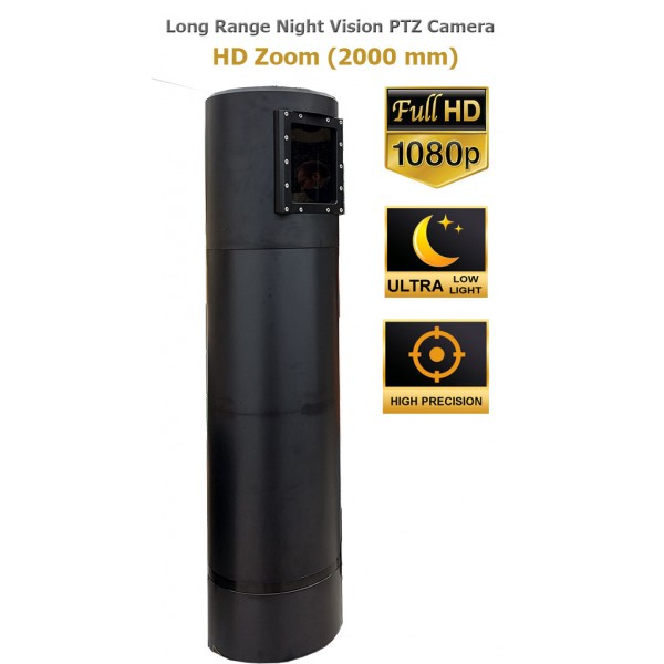 Ultra Long Range tactical PTZ camera night vision ULL very accurate 2 Megapixels 1080p military