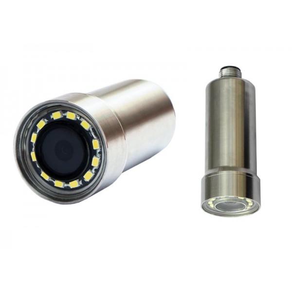 ZB1970LED camera compacte sous marine avec connecteur et haute résolution 1080p 2Mp AHD CVI TVI CVBS PAL Analogique inox