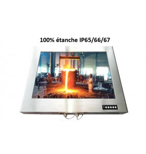 """MO1010IP 10"""" Stainless steel monitor"""