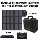 P3-100Li Panneau solaire pliable, transportable avec batterie pour alimentations tactiques solutions de video surveillance