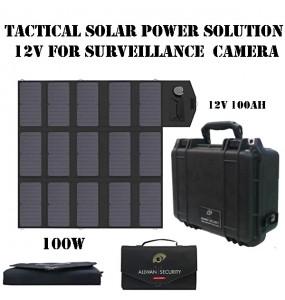 P3-100Li Panneau solaire pliable avec batterie pour alimentations tactiques