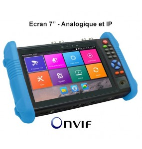 7HD-IPTEST screen tester IP cameras + BNC CVBS