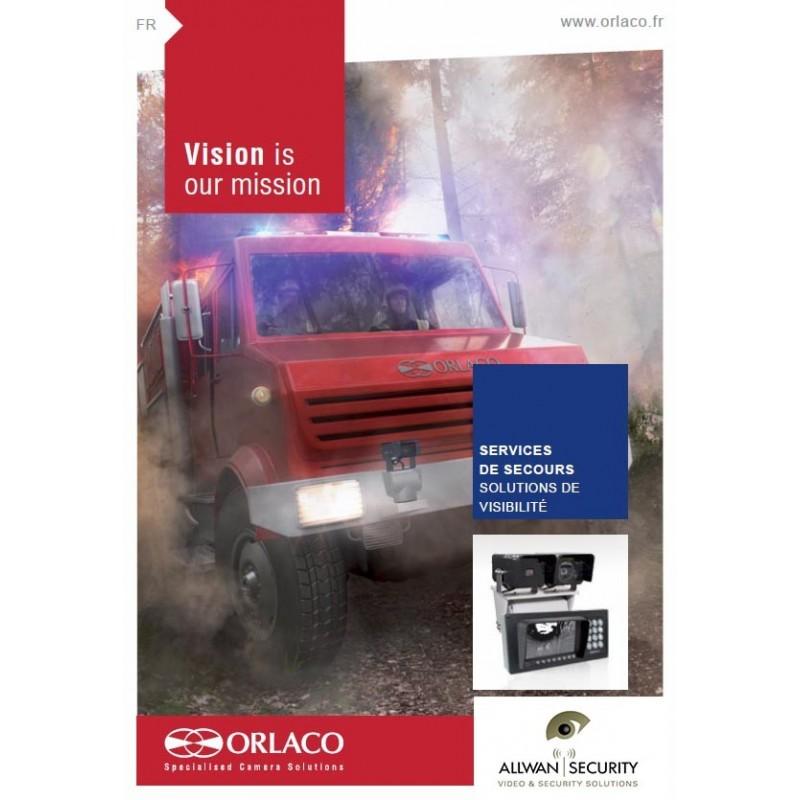 Caméra thermique rotative, de recul, radar pour camion pompiers BEA camion anti-feu