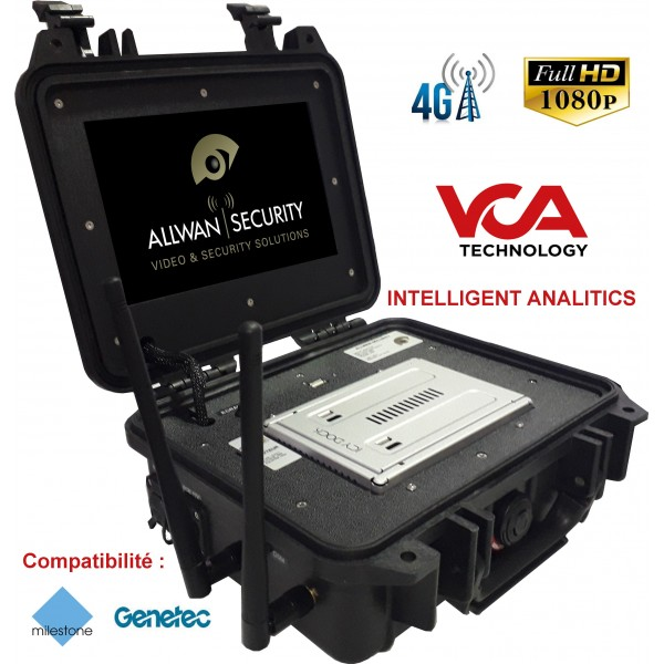 VCA-CASE valise nomade tactique d'analyse video et de transmission 4G