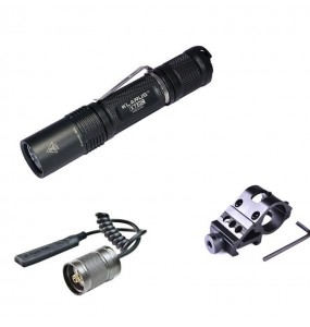 Kit airsoft lampe tactique rechargeable Klarus XT12GT 1600 Lumens