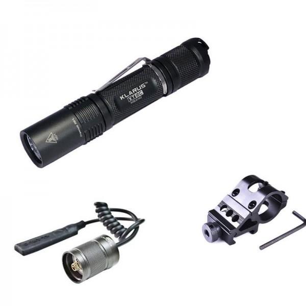 Kit airsoft lampe tactique rechargeable Klarus XT12GT 1600 Lumens