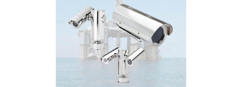 Caméras, tourelles et caissons marinisés