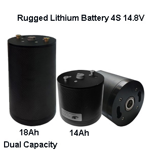 Rugged Lithium-ion 4S 14.8V battery for security defense