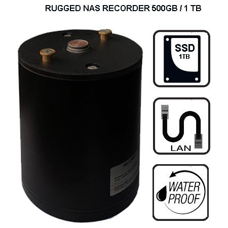 Rugged NAS server 500GB 1TB video station